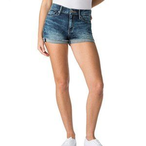 (15) Levi's Denizen High-Rise Jean Shorts